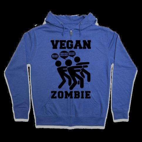 Vegan Zombie Zip Hoodie