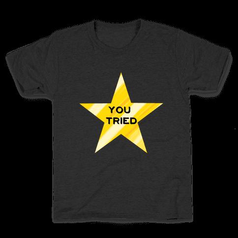 Gold Star You Tried. Kids T-Shirt