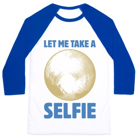 Pluto Selfie Baseball Tee