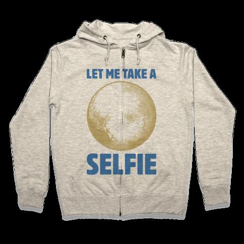 Pluto Selfie Zip Hoodie