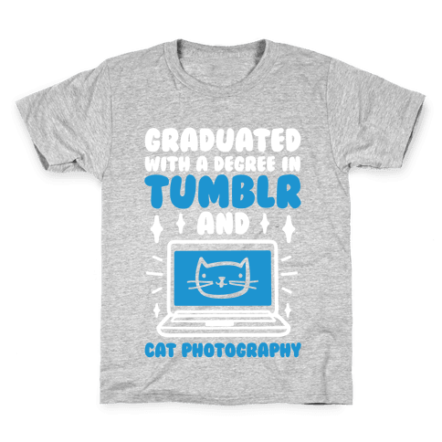 Graduated With A Degree In Tumblr And Cat Photography Kids T-Shirt