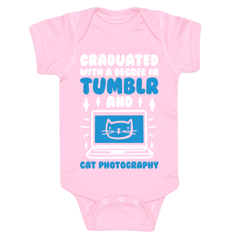 Graduated With A Degree In Tumblr And Cat Photography Baby Onesy