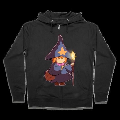 Wizard Girl Zip Hoodie