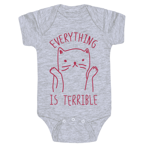Everything Is Terrible Baby Onesy