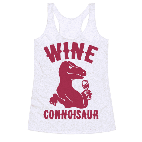 Wine Connoisaur Racerback Tank Top