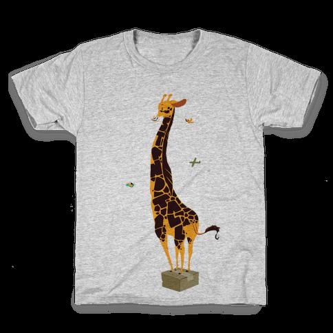 Stand Tall Giraffe Kids T-Shirt