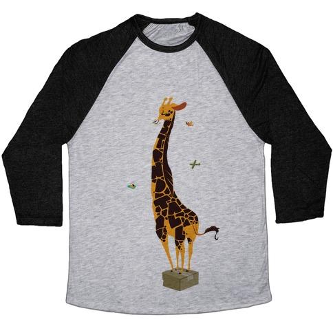 Stand Tall Giraffe Baseball Tee