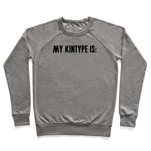My Kintype Is: Pullover