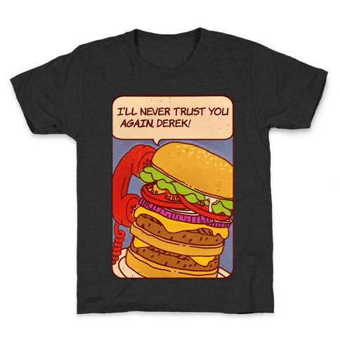 Burger Pop Art Comic Panel Kids T-Shirt