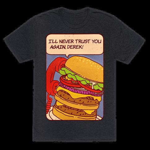 Burger Pop Art Comic Panel