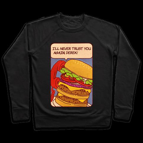 Burger Pop Art Comic Panel Pullover