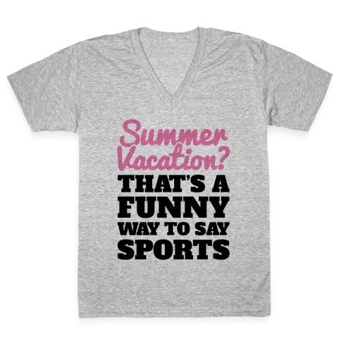 Summer Sports V-Neck Tee Shirt