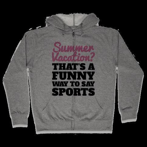 Summer Sports Zip Hoodie