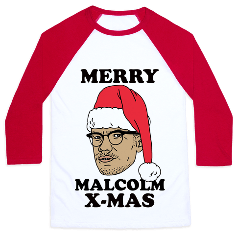 Malcolm X-Mas Baseball Tee