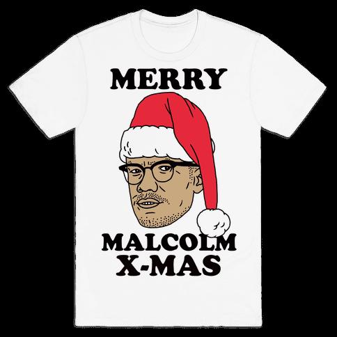 Malcolm X-Mas Mens T-Shirt