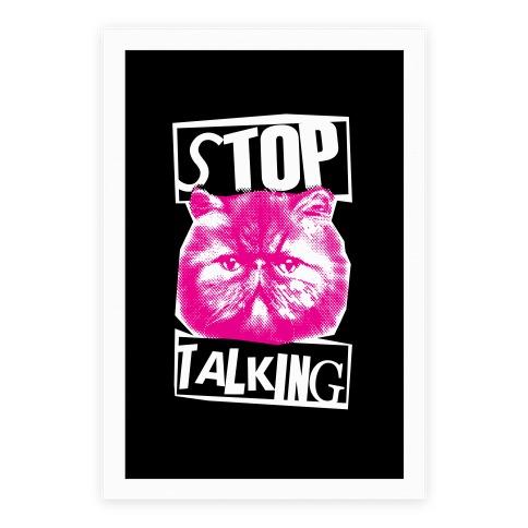 Stop Talking Poster
