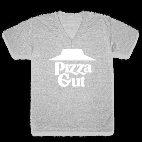 Pizza Gut V-Neck Tee Shirt