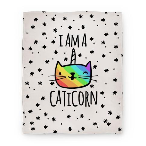 I Am A Caticorn Blanket Blanket