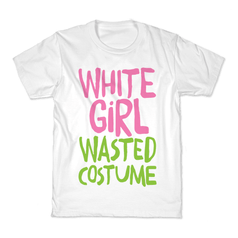 White Girl Wasted Costume Kids T-Shirt