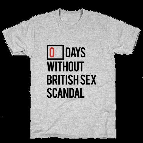 British Sex Scandal Mens T-Shirt