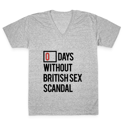 British Sex Scandal V-Neck Tee Shirt