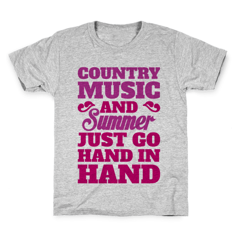 Country Music and Summer Kids T-Shirt