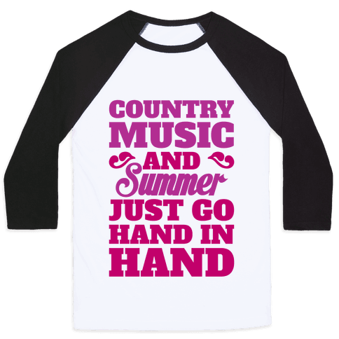 Country Music and Summer Baseball Tee