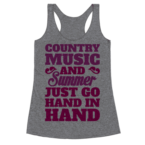Country Music and Summer Racerback Tank Top