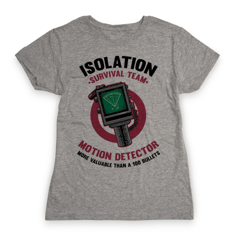 Isolation Survival Team Motion Detector Womens T-Shirt