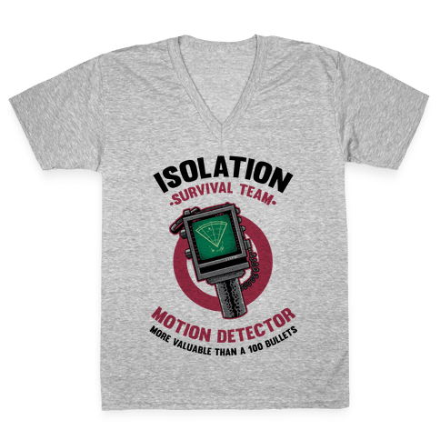 Isolation Survival Team Motion Detector V-Neck Tee Shirt