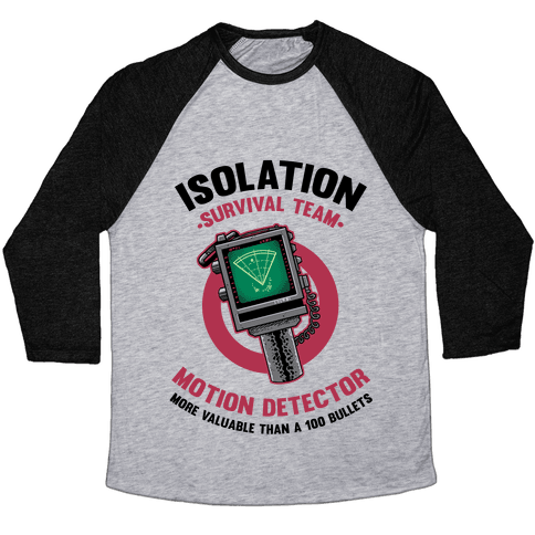 Isolation Survival Team Motion Detector Baseball Tee