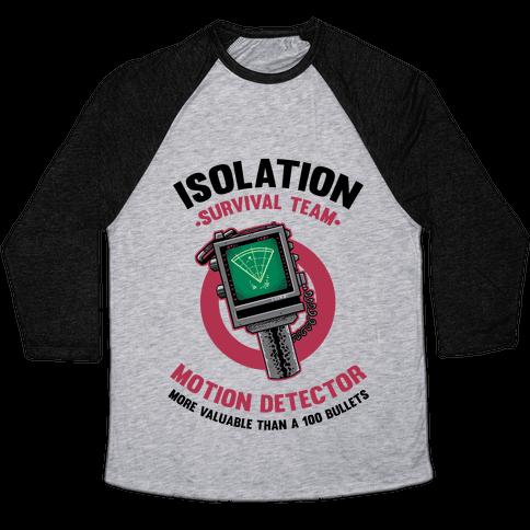 Isolation Survival Team Motion Detector Baseball Tee