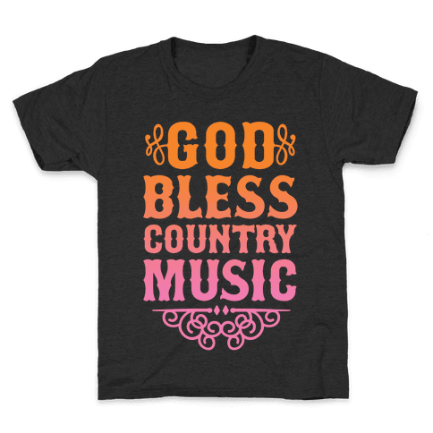 God Bless Country Music Kids T-Shirt