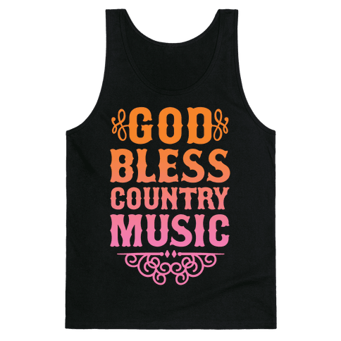 God Bless Country Music Tank Top