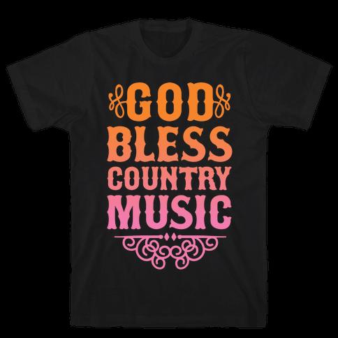God Bless Country Music Mens T-Shirt