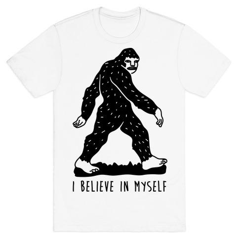 Kids T-Shirt ITS OK I BELIEVE IN MYSELF Big Foot Sasquatch Funny Unisex Top