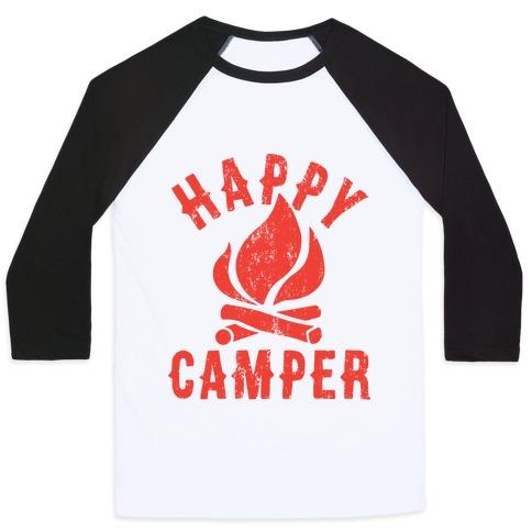 Happy Camper Baseball Tee