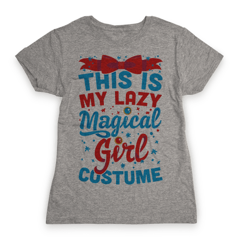 This Is My Lazy Magical Girl Costume Womens T-Shirt