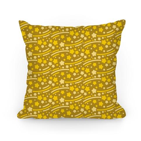 Yellow Shooting Stars Pattern Pillow