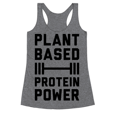 Plant Based Protein Power Racerback Tank Top
