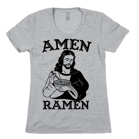 Amen Ramen Womens T-Shirt