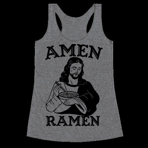 Amen Ramen Racerback Tank Top
