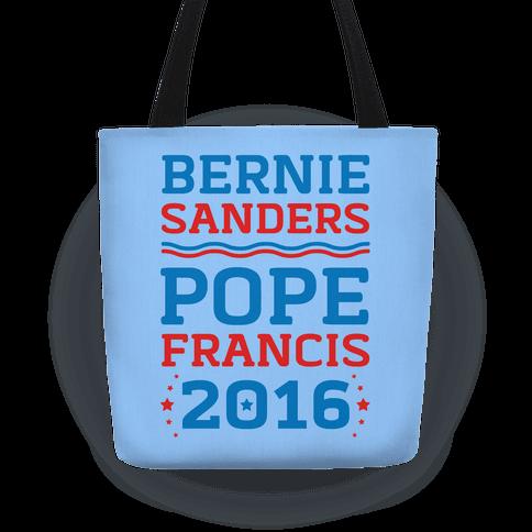 Bernie Sanders / Pope Francis 2016 Tote