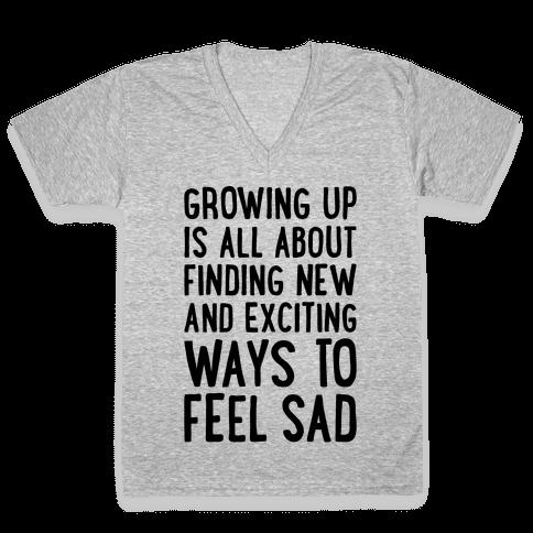 Growing Up V-Neck Tee Shirt