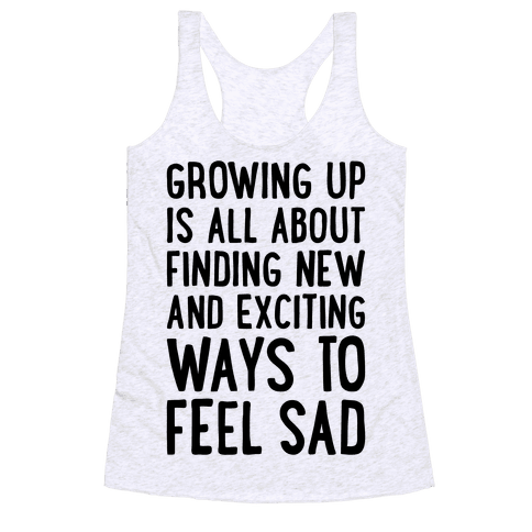 Growing Up Racerback Tank Top