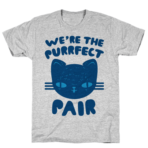 We're The Purrfect Pair (Blue Cat) Mens T-Shirt