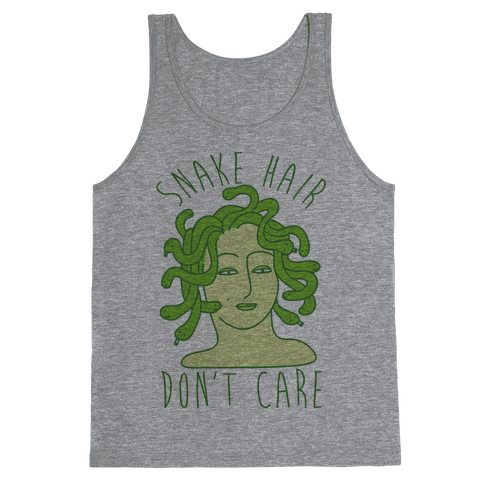 Snake Hair Don't Care Tank Top