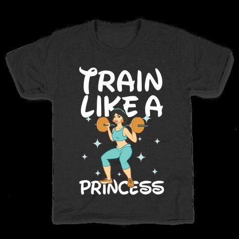 Train Like a Princess (light) Kids T-Shirt