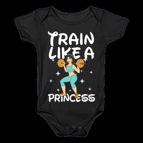 Train Like a Princess (light) Baby Onesy