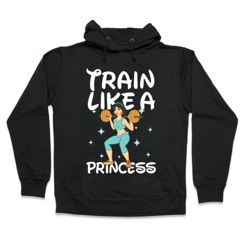 Train Like a Princess (light) Hooded Sweatshirt